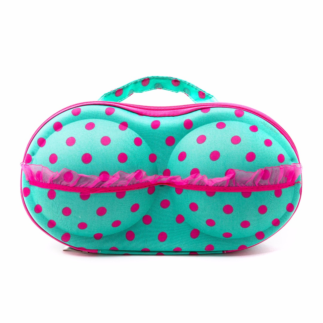 Blue & Pink Polka Dots Storage Case for Women