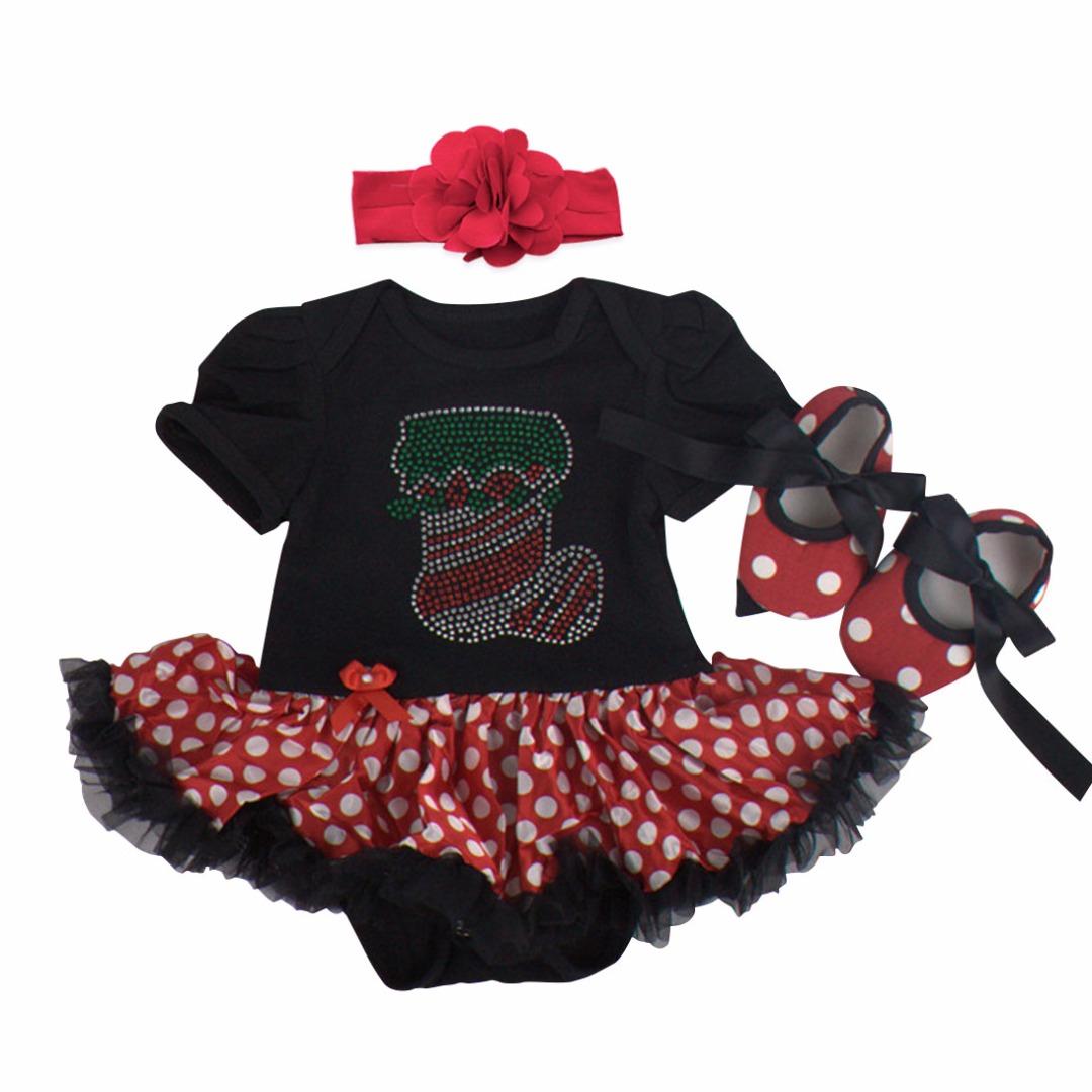 Festive Polka-Dot Outfit (3pc-set)